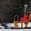 Sunflowers for Vincent by Mark diSuvero and Ozymandias by Douglas Kornfeld