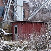 Red Shed, snow
