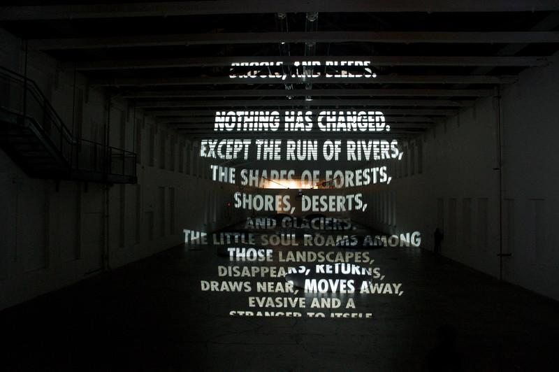 Projection by Jenny Holzer