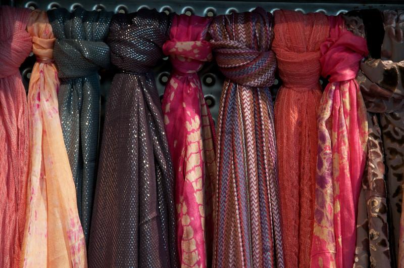 Gift shop scarves