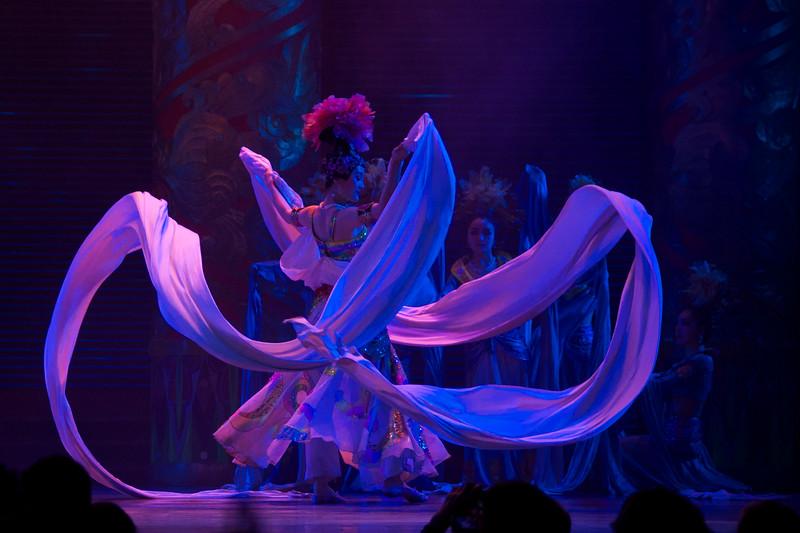 White Ramie Cloth Costume Dance