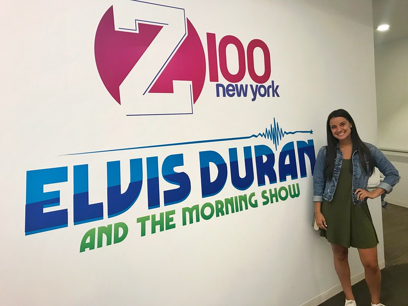 Katherine Lapidus, Elvis Duran and the Morning Show on Z100