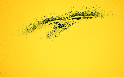 Whooper swan yellow abstract