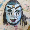 Each mask is then adorned with paint, ink and other embellishments designed to represent themselves as warriors.