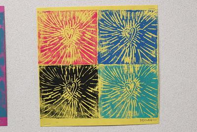LS K-1st Art - Styrofoam Prints 11-3-17
