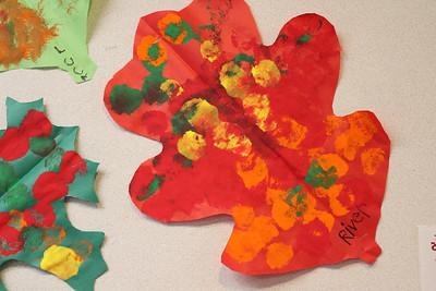 LS K Art - Painted Leaves 11-3-17