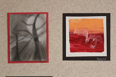 MS 6th-7th Charcoal and Monoprinting 11-3-17
