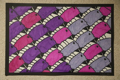 MS 6th Art - Tessellations 1-17-18