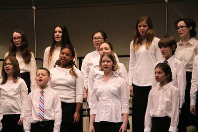 MS 6th Choir at Spring Concert 3-13-18