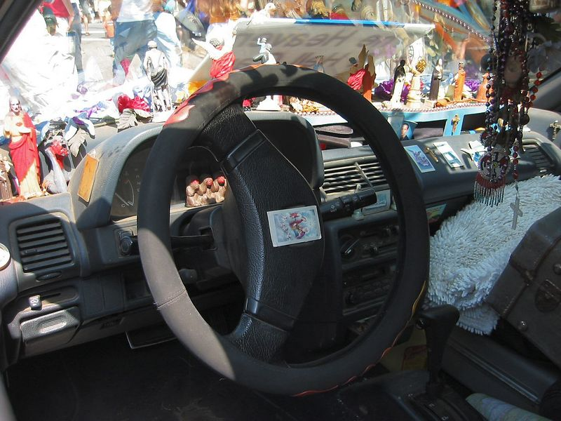 Inside of 'Heaven and Hell' car