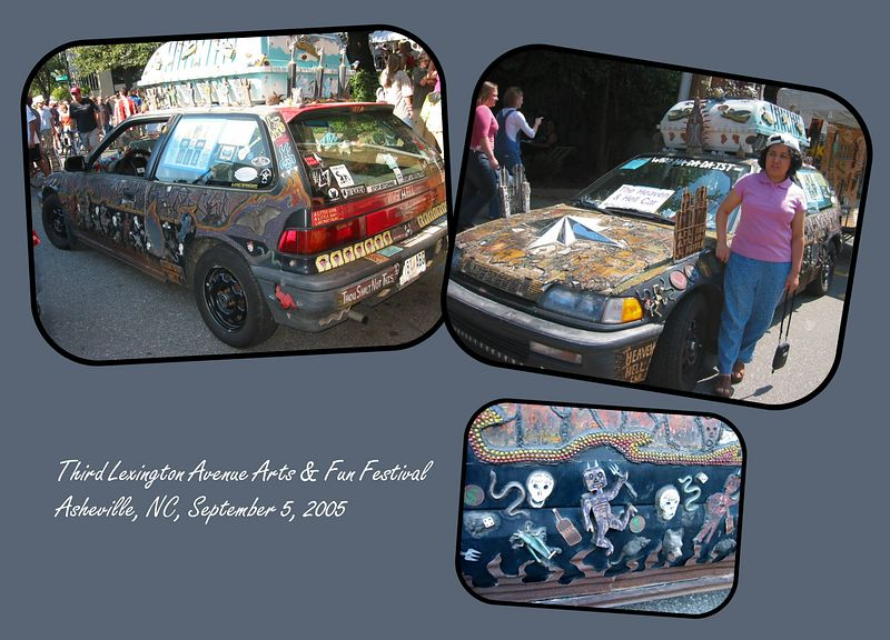 'Heaven and Hell' car [3 inset images, borders, text]