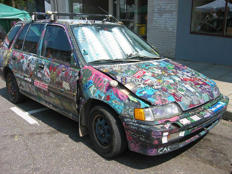 Psychedelic car