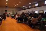 Audience enjoying Kwanzaa celebration