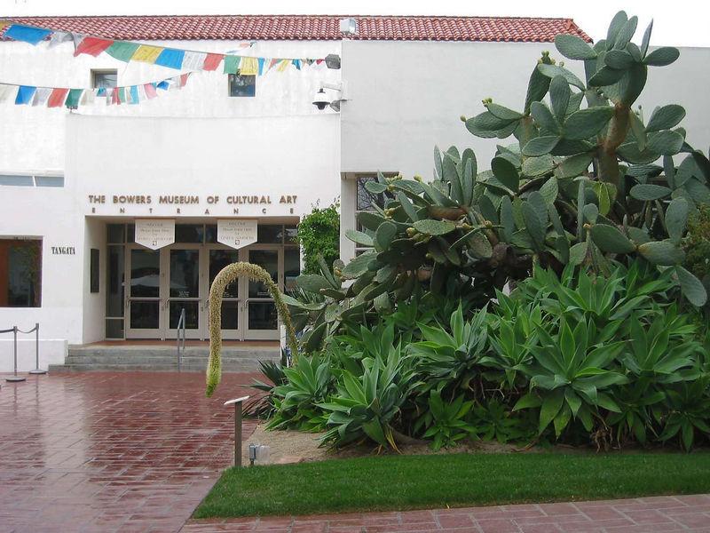 Bowers Museum courtyard
