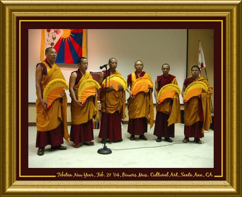 00aFavorite Monks chanting at Tibetan New Year Celebration [borders, text, gold01 frame]