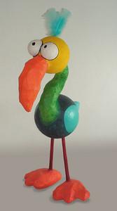 paper mâché bird