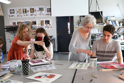 2016 Visiting Artist April Ferry in Amanda Amsel's Class, Watercolor