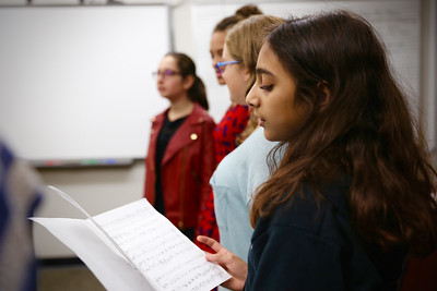 7th Grade Vocal Ensemble Rehearsal with KC Helmeid