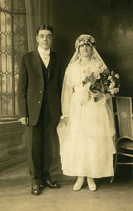 Circa 1919: Art Harwig Sr. and Sylvia Wedding portrait