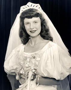7/2/47, Delores Harwig wedding.