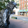 The metal statues are back on Main Street to promote the Artsmith Festiva that will be held October 8, 2016 at 10 a.m. to 5 p.m. at Fitchburg Riverfront Park on Boulder Drive. The rain date is October 9, 2016. SENTINEL & ENTERPRISE/JOHN LOVE