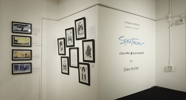 SRAC artspace; Drew Hunter exhibit: Spectrum