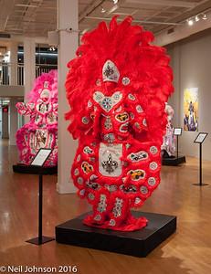 Mardi Gras Indian bead costumes