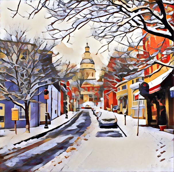 Snowy Annapolis