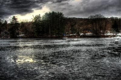 Cortlandt Lake Iced Over