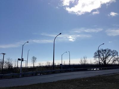Streetlights Like Sentinels Against the Empty Sky
