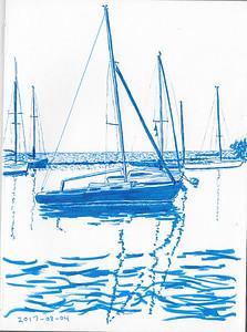 Sailboats Near Ontario Place