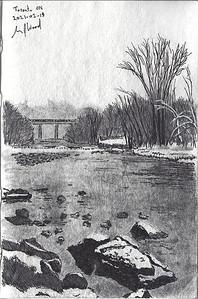 The Riverside In Winter