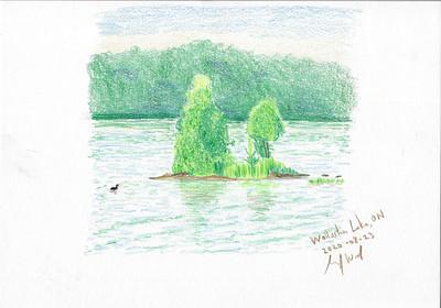Wollaston Lake Colour Sketch 2