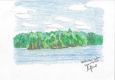 Wollaston Lake Colour Sketch 1