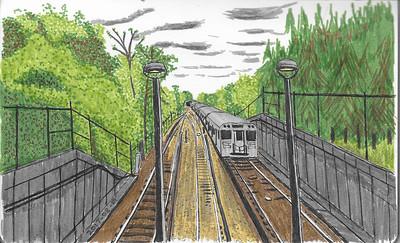 Subway Leaving Islington Station