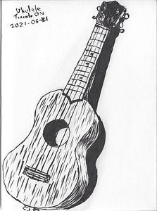 Ukulele (Brush Pen Sketch)