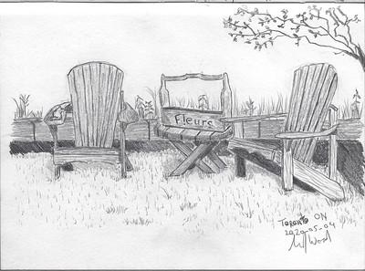 Muskoka Chairs and Table