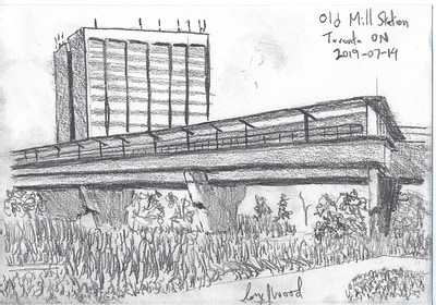Old Mill Station From Below (plein-air sketch)