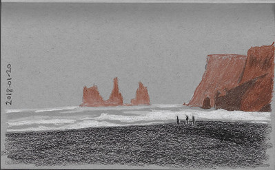 The Black Sand Beach at Vik, Iceland
