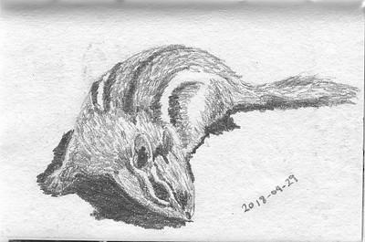 Foraging Chipmunk (20-minute sketch)