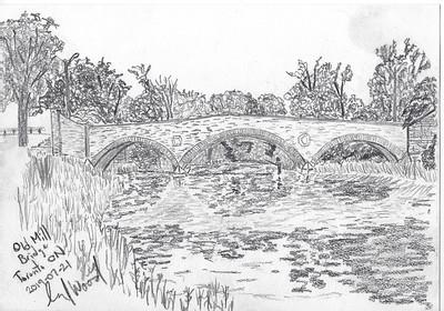 Old Mill Bridge (plein air sketch)