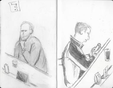 Bar Patrons (5-minute sketches)