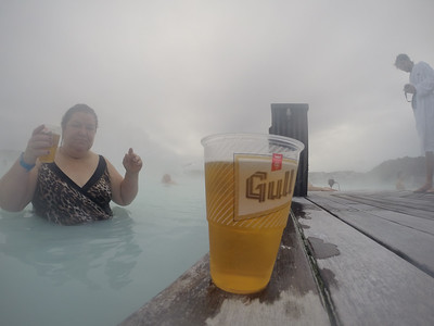 Gull Beer at Blue Lagoon