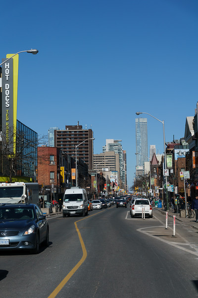 Looking East From Bloor and Bathurst