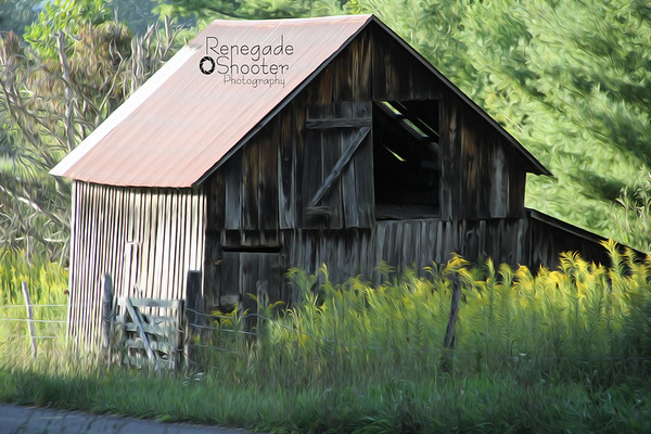 old barn oil paint