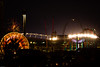 Neon Overload - Elitch Gardens amusement park, in front of Mile High Stadium, with amateur fireworks going off as well.
