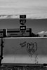 Graffiti by the now-abandoned Twin Arrow gas station in Arizona.