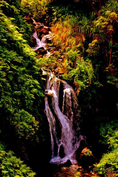 Waterfall-stylized