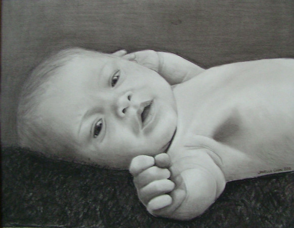 "Pencil/Charcoal<br /> 11"" x 14"" Framed as a 16"" x 20""<br /> <br /> **2012 Best of Show at Beford County Fair**"