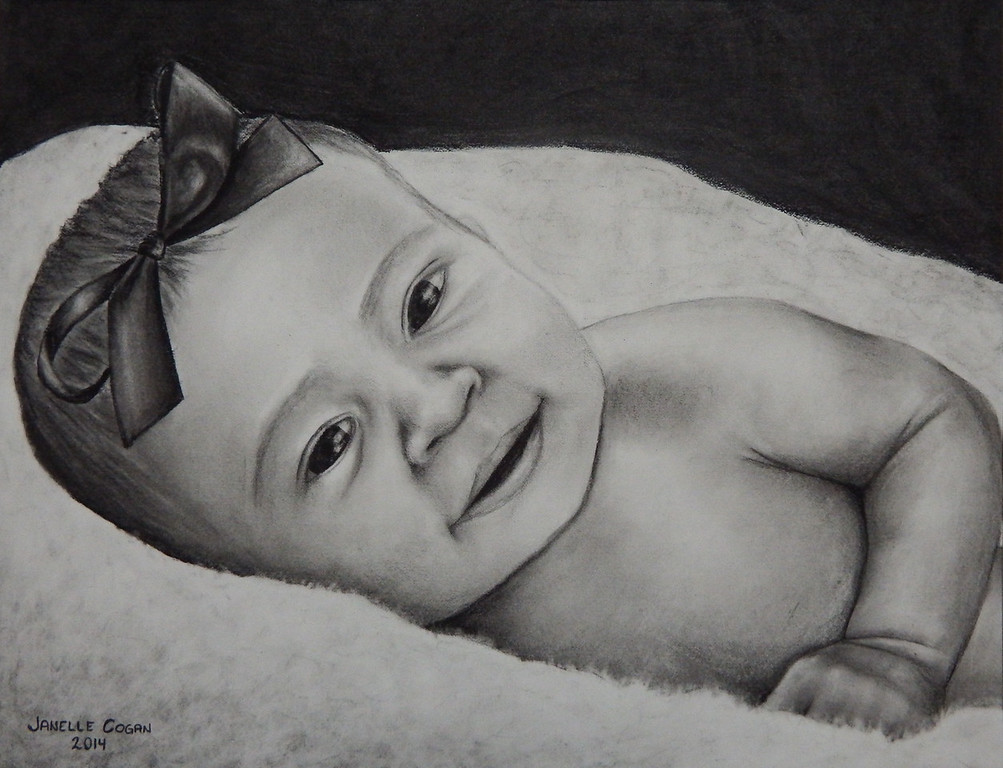 "Pencil/Charcoal<br /> 11"" x 14""<br /> Sold to a private collector"